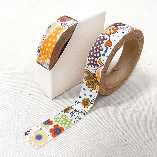 Cloth tape - spring floral [wind and floating world yellow]