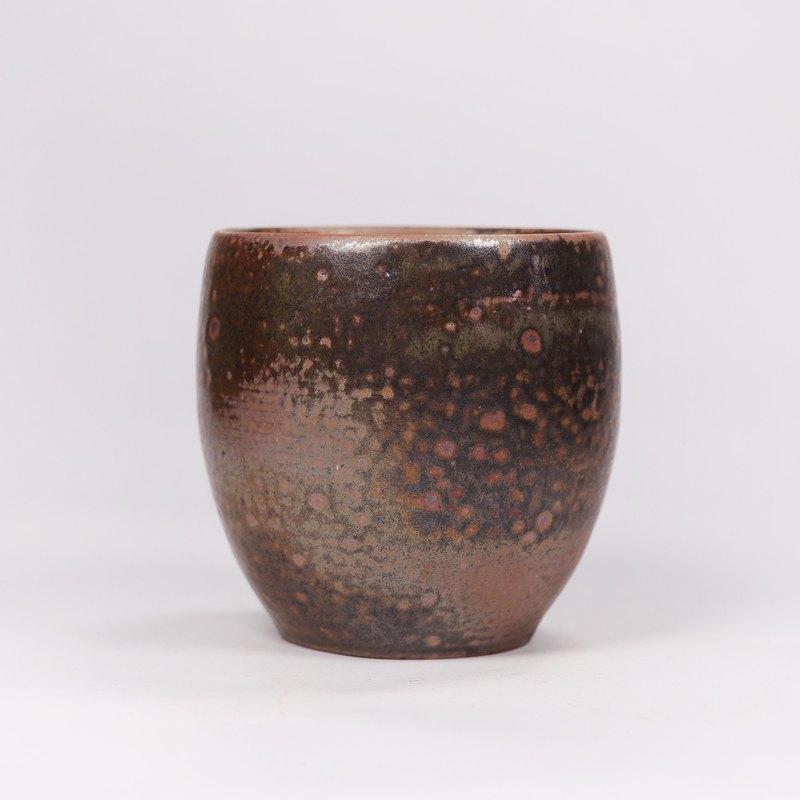 明芽窯 l 柴燒灰釉古樸感茶杯水杯