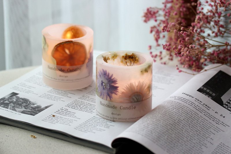 Gold Foil Candle Turkish Candles and Dry Flower Candles Course