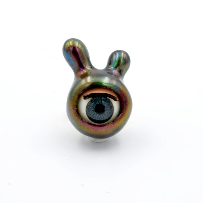 Symphony Metal Rabbit Ear Eyes Ring Alien Monster Series
