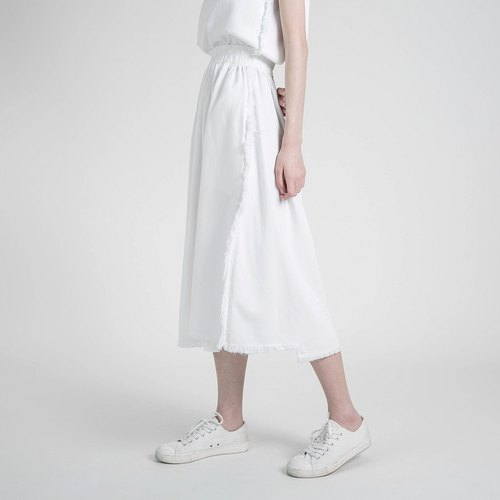 Outline Contoured Skirt _8SF234_White