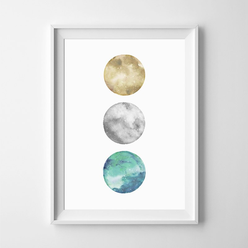 Moon print #1 Customizable painting poster