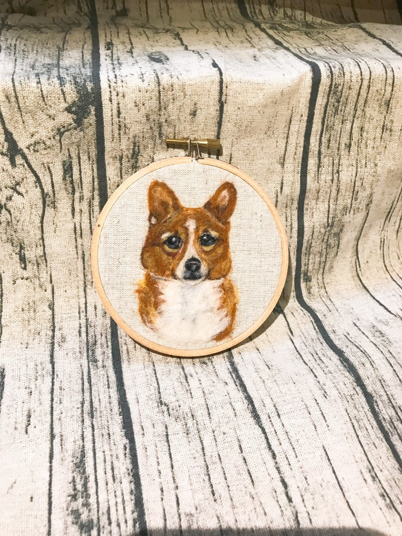 |Wool felt embroidery|PET|100% wool|Customized|4吋