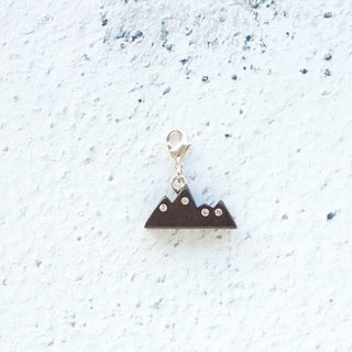 Mountain wooden charm