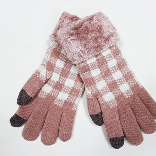 【Winter ceremony】 touch white gloves knitted gloves limited models
