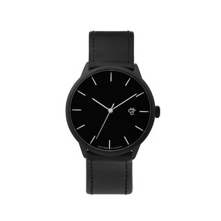 Khorshid Collection - Noir Black Dial Black Leather Watch