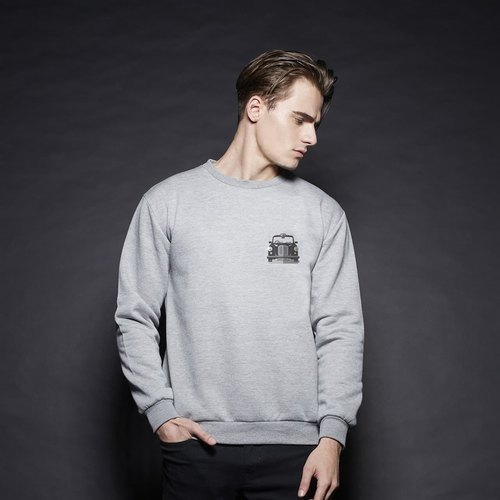 British Fashion Brand -Baker Street- Black Cab Printed Sweater