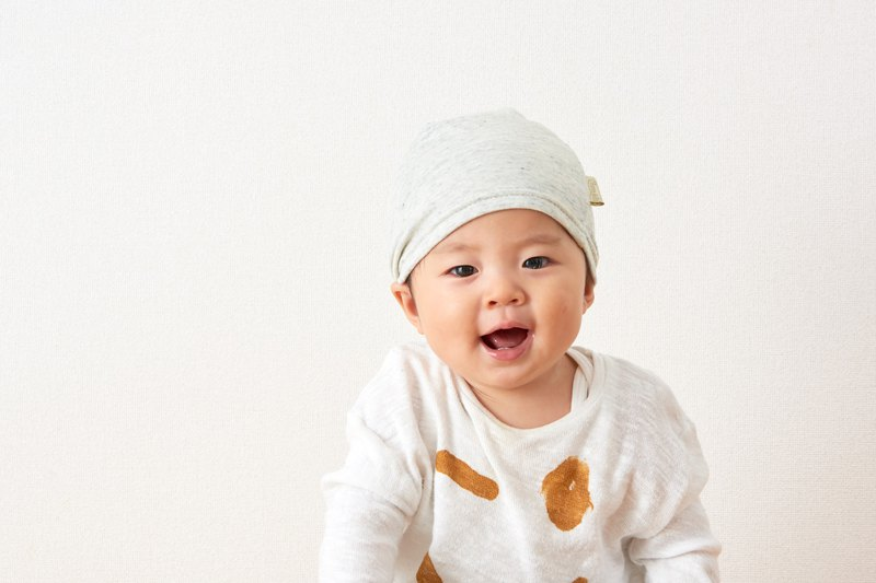 MADE In JAPAN 100% Organic Cotton Baby Hat Prevent Colds Hypoallergenic Beanie