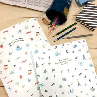 Boge stationery x taste life [60 into the data book] two colors
