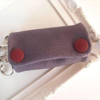 [Full] Purple pig leather soft key case [MTO] purple leather 1611005