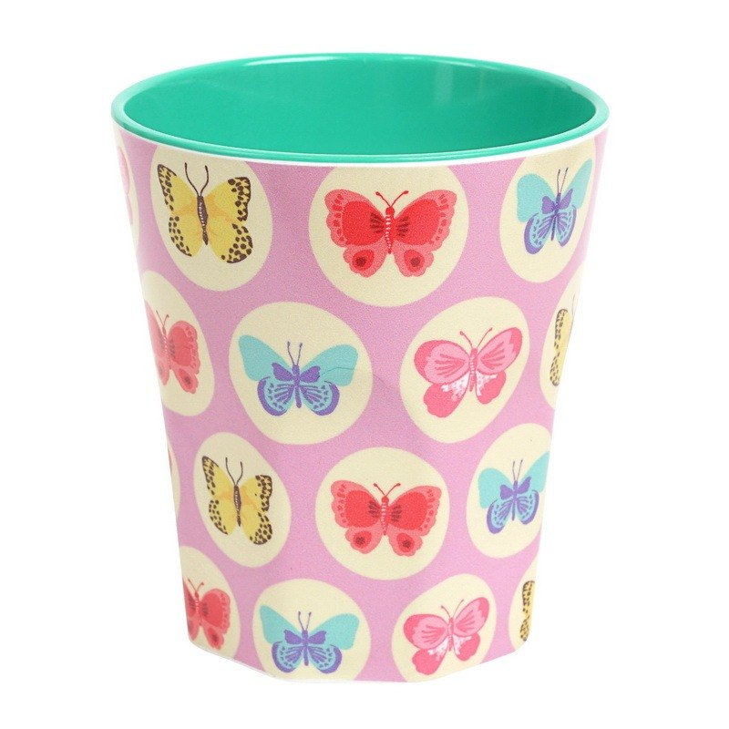 Butterfly Retro cup - Pink