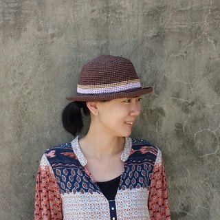 Straw hat - dark coffee color