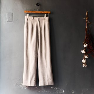 River Hill - Vacation faint light afternoon tea time Sentimental antique silk trousers wide pants vintage edition