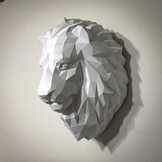 3D paper model _ lion wall decoration _DIY Kits_ hand-made portfolio