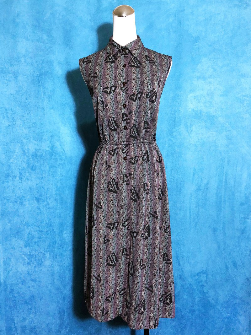 Totem Sleeveless Vintage Dress / Bring back VINTAGE abroad