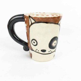 Nice Little Clay Mug Black Wheel Dog 01061-06