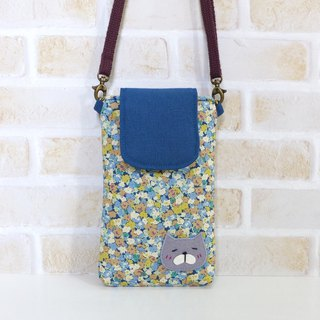 丫喵Mobile phone bag - flower (with strap)