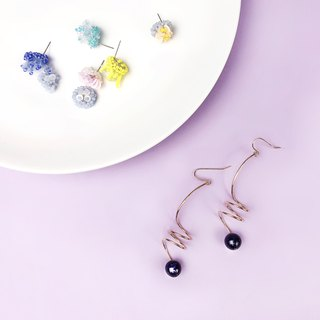Goody Bag Free Shipping Bag Obsidian Earrings / Beaded Small Earrings Free Combination