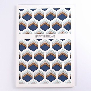 Honeycomb Navy Blue [Up With Paper Luxe]