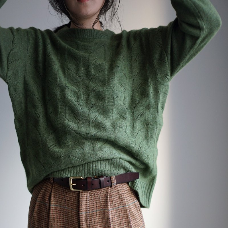 現貨 Olive green 100% cashmere sweater