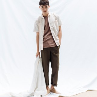 hao Olive green Pocket Trousers olive patch pocket pants