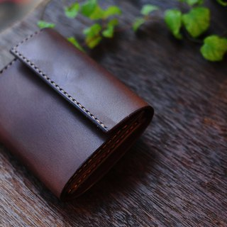 Hand Stitched Leather Mini Wallet