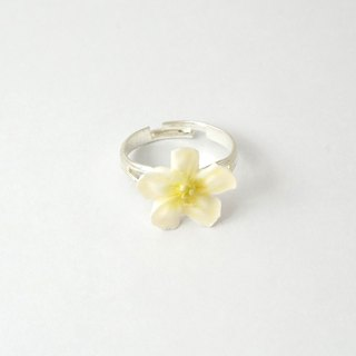 Apple flower/Plumeria Ring =Flower Piping= Customizable