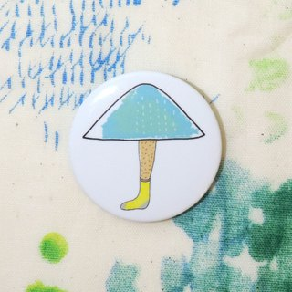 Magnetic tin badge: The umbrella