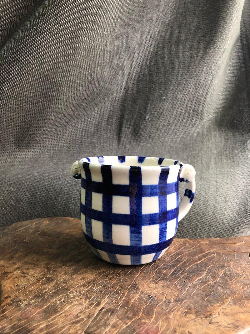 Kuwado格紋青呱馬克杯