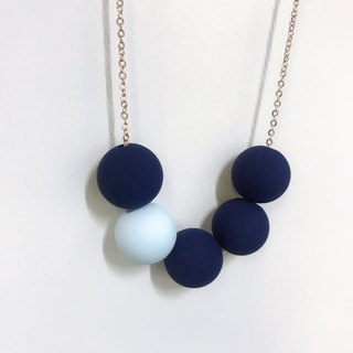 Blue Navy Necklace Christmas Birthday gift Bridal shower