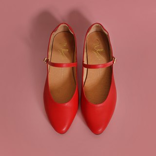 WL Mary Jane (Red) Red Low Heels-Pinkoi Exclusive / First Wave Offer