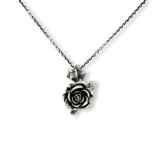 Handmade Silver 925 Sterling Silver Rose Necklace