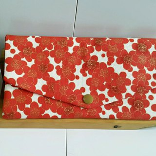 ((mini bear hand made)) red envelopes, cash registers, cash pockets (Japanese cloth)