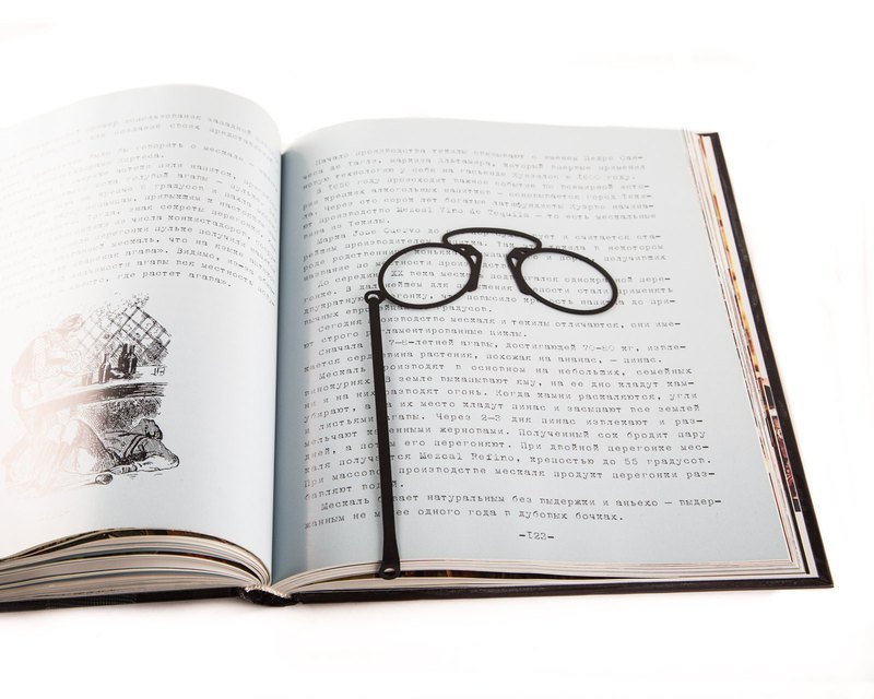 Creative Metal book bookmark // Pince-nez Glasses // Free shipping worldwide