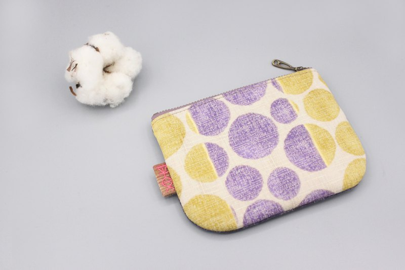 Ping An Xiaole Bag-Jumping Retro Circle, Double-sided Two-color Wallet