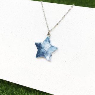 [Ink Blue] - Five Star Necklace