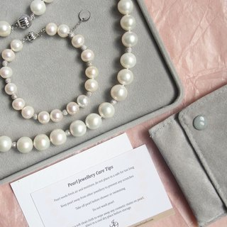 Classic Round Pearl Necklace and Bracelet Set | Perfect gift for Wedding, Bride and Bridesmaid