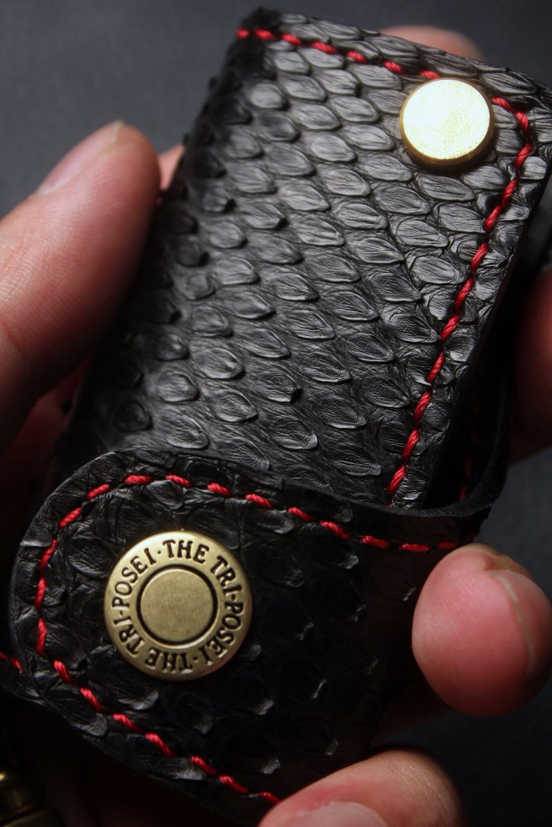 [Poseidon boutique handmade leather goods] Benz Benz car key holster hand-made
