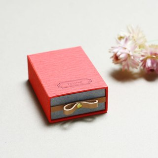 Passion // Red) Sliding Box Leather ribbon small box to convey the feelings