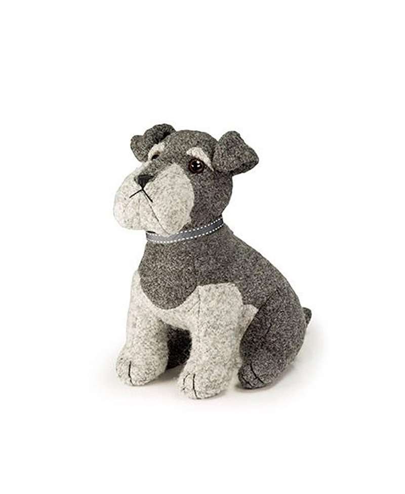 British Dora Design high-quality design animal puppet shape door stop (off-white Schnauzer)
