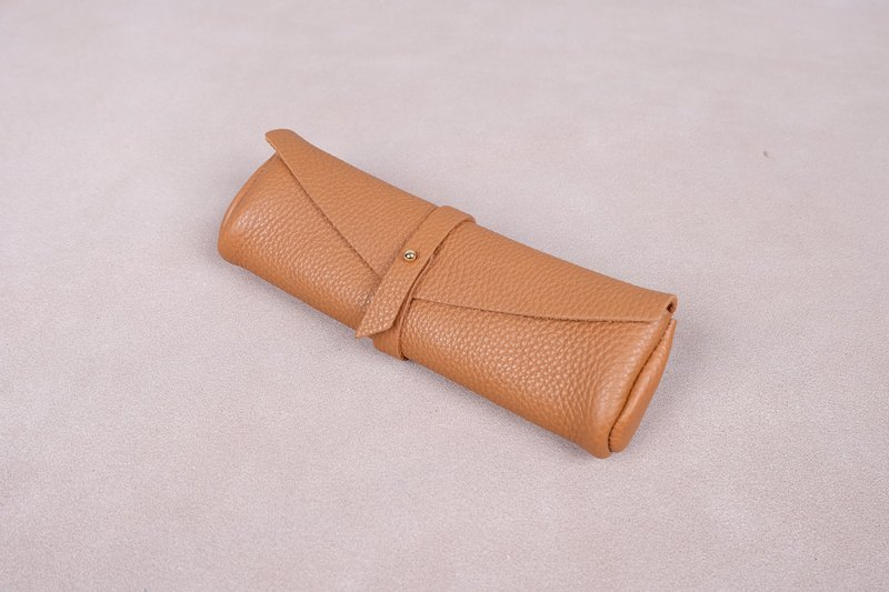 Handmade high grade Germany Leather pencil case (Brown)