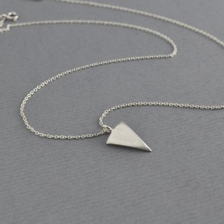 Sterling Silver Matt Triangle Necklace