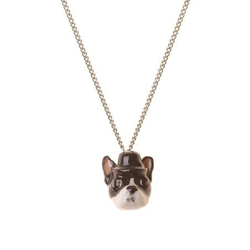 "And Mary  Boster Terrier Head silver plate necklace | 18""/22"" 