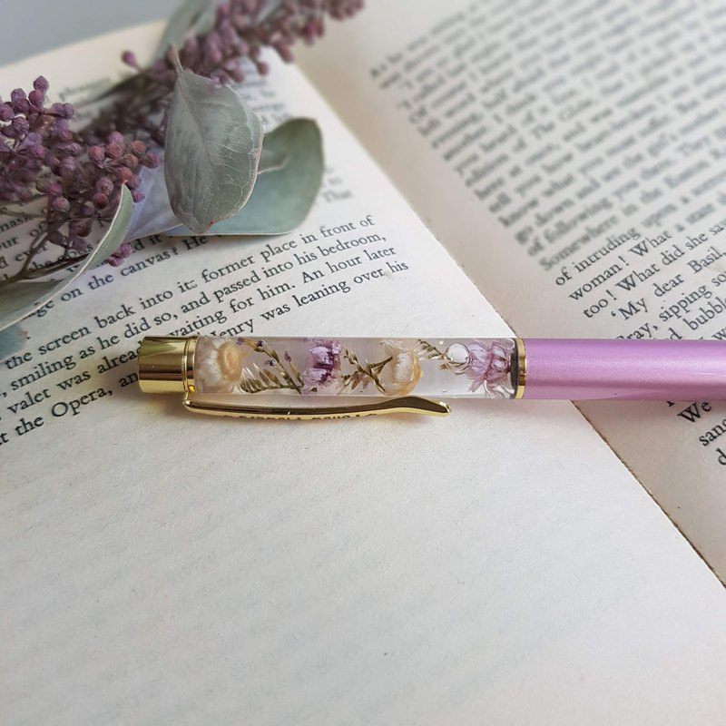 Time Flower Pen | Lilac Purple_Floating Flower Pen Wedding Small Things 2021 May Mother's Day Gift