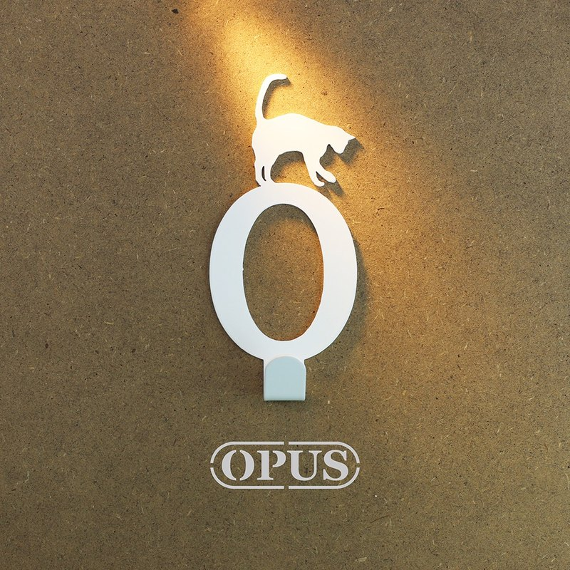 [OPUS Eastern Metalworking] when the cat met the letter O - hook (elegant white) / Mural hook / furniture rack / living storage / hanger / modeling hook / trace / small wedding HO-ca10-O )
