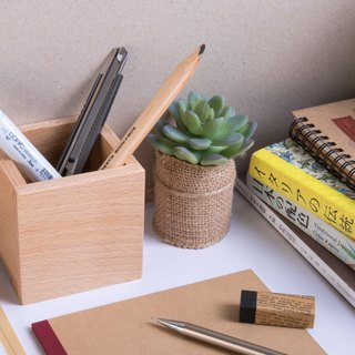 [single pen case (H8cm)] handmade wooden pen holder pencil case
