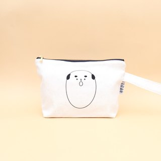 O | Bald Embroidery Cosmetic Bag