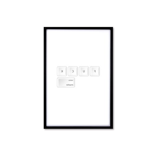 HomePlus Nordic Wind Decorative Photo Frame FUCK Fashion Black Box 63x43cm Interior Design Arrangement Picture Frame Wall Creative Wall Stickers