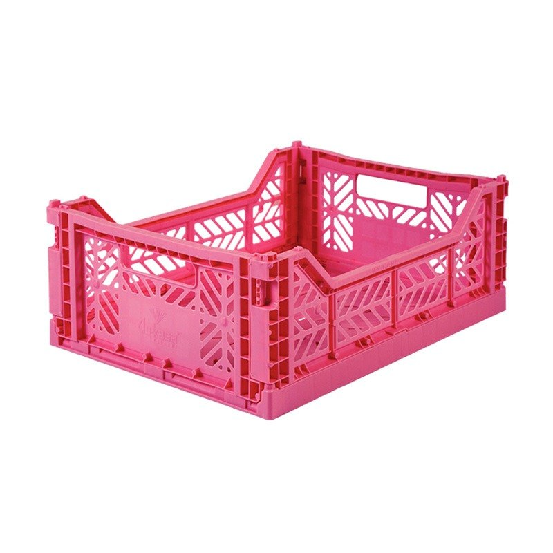 Turkey Aykasa folding basket (M) - cherry rose powder