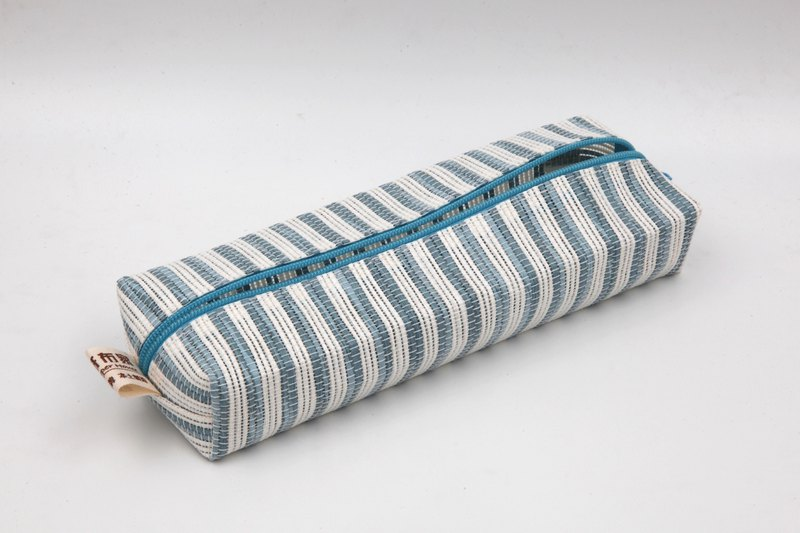 [Paper cloth home] pencil case, stationery bag (blue and white)